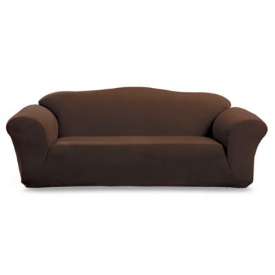 Stretch Suede Chocolate Sofa Furniture Cover by Sure Fit®