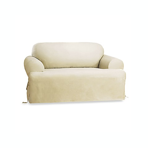 Sure Fit Duck T Cushion Loveseat Slipcover In Natural Bed Bath Beyond