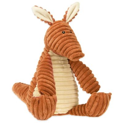 Glenna Jean Echo Large Aardvark Plush Toy in Orange/Cream