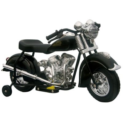 GiGGo Toys Little Vintage Battery Powered Ride-On Indian Motorcycle in Black