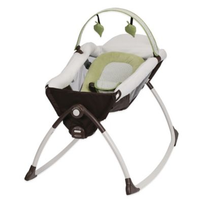 Graco® Little Lounger™ Rocking Seat + Vibrating Lounger in Go Green™