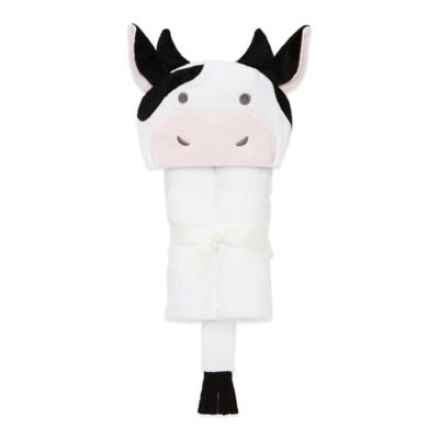 Elegant Baby® Cow Bath Wrap in Black/White
