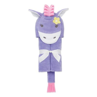 Elegant Baby® Pony Bath Wrap in Purple/Pink