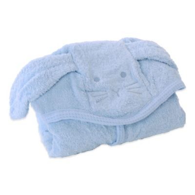 Cat Cuddly Hooded Towel with Apron Straps in Blue