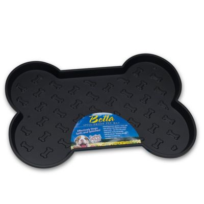 Bella Spill-Proof Large Dog Mat in Black