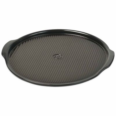 Emile Henry® Rippled 14.5-Inch Pizza Stone in Charcoal