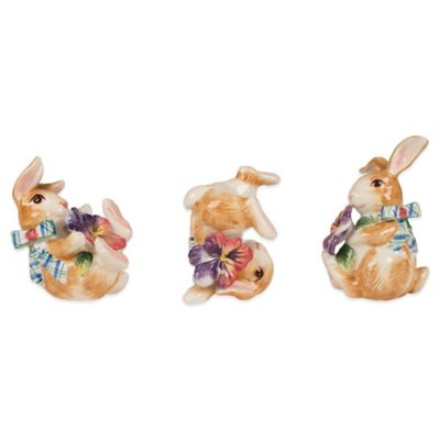 Fitz and Floyd Halcyon Bunny Tumblers (Set of 3)