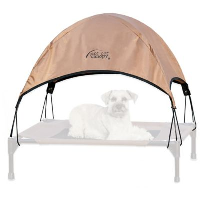 Gray Pet Cot Canopy
