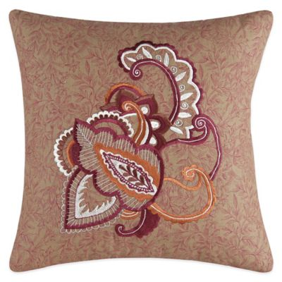 Avanni Embroidered Square Throw Pillow