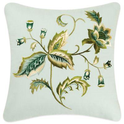 Louise Square Throw Pillow in White