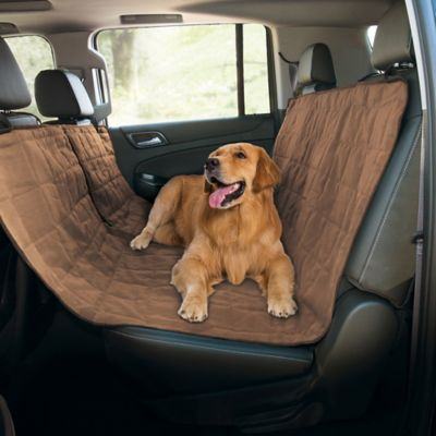 Quilted Pet Hammock Car Seat Cover in Grey