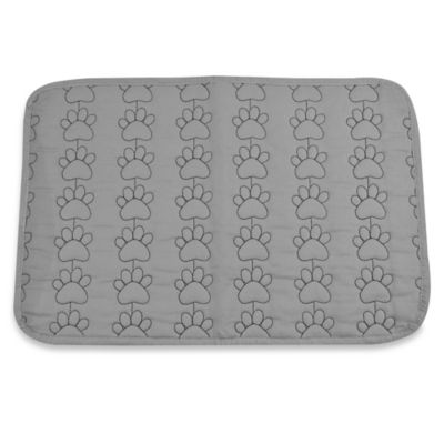 Running Paws Quilted Pet Mat in Grey