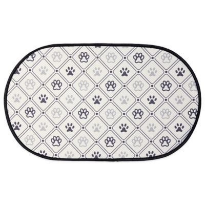 The Original Pet Bowl Mat in Grey/Taupe