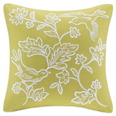 Harbor House™ Amelia Embroidered Square Throw Pillow in Green