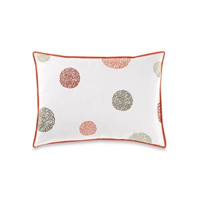 Vera Wang™ Orange Blossoms Embroidered Breakfast Throw Pillow