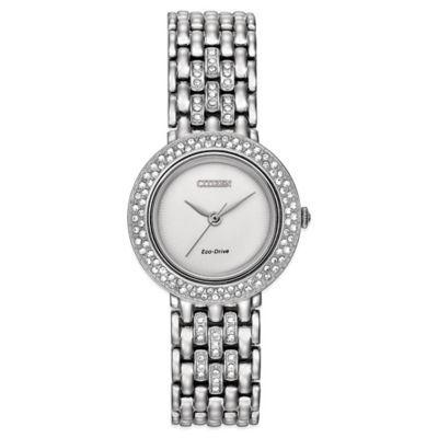 Citizen Eco-Drive Ladies' 27mm Silhouette Swarovski® Crystal Watch in Stainless Steel