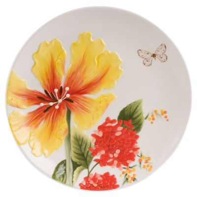Fitz and Floyd® Flower Market Salad Plate in Naples Yellow
