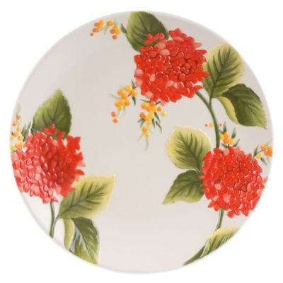 Fitz and Floyd® Flower Market Salad Plate in Sunset Red