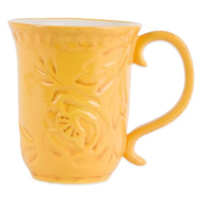 Fitz and Floyd® Flower Market Mug in Naples Yellow