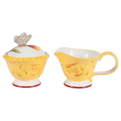 Fitz and Floyd® Flower Market Covered Sugar and Creamer