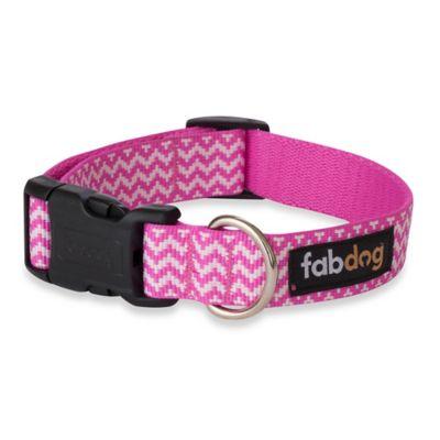 Fab Dog Medium Chevron Collar in Pink