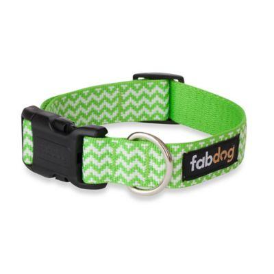 Fab Dog Medium Chevron Collar in Lime