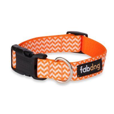 Fab Dog Medium Chevron Collar in Orange
