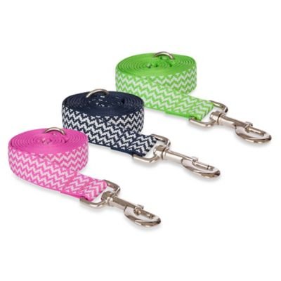 Fab Dog Small Chevron Leash in Navy