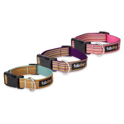 Fab Dog Medium Striped Collar in Sky