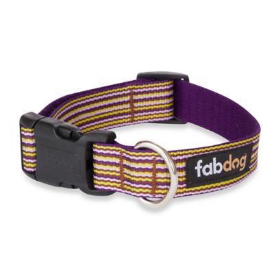 Fab Dog Large Striped Collar in Purple