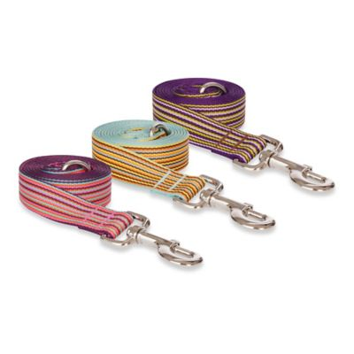 Small Striped Leash in Pink