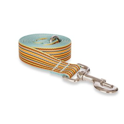 Fab Dog Large Striped Leash in Sky