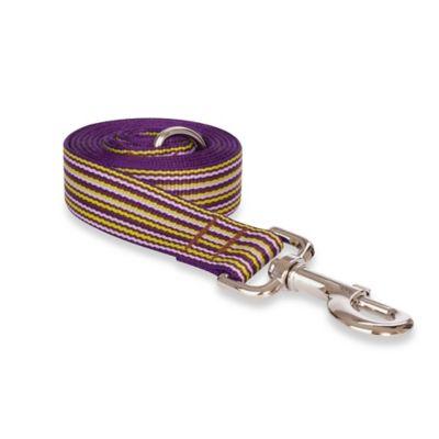Fab Dog Large Striped Leash in Purple