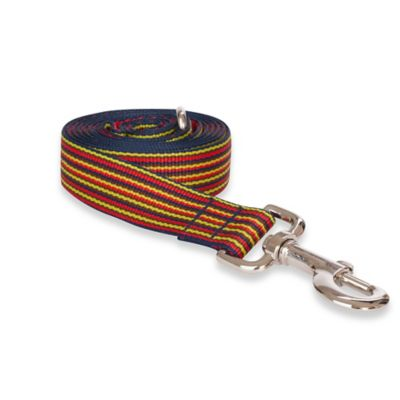 Fab Dog Large Striped Leash in Red