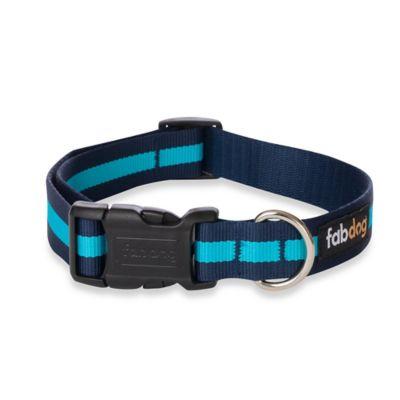 Fab Dog Medium Stripe Collar in Blue