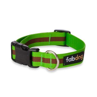 Fab Dog Medium Stripe Collar in Green