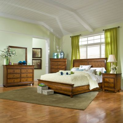 Klaussner Palais 5-Piece California King Bedroom Set in Brown
