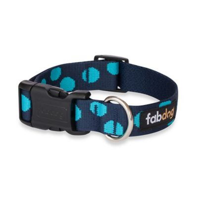 Fab Dog Medium Polka Dot Collar in Blue