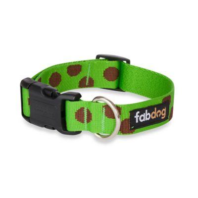 Fab Dog Medium Polka Dot Collar in Green