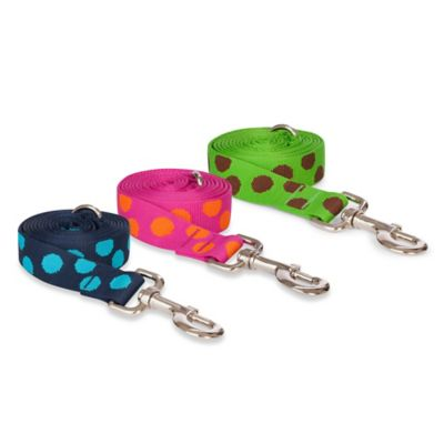Fab Dog Small Polka Dot Leash in Blue
