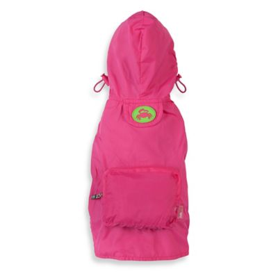 Fab Dog Large Travel Crab Raincoat in Pink