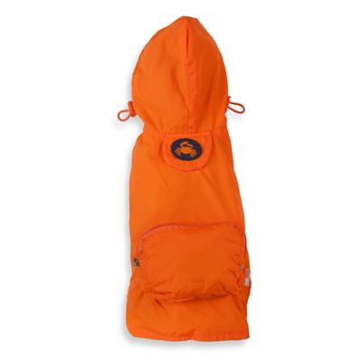 Fab Dog Medium Travel Crab Raincoat in Orange