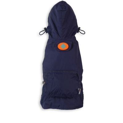 Fab Dog Large Travel Argyle Raincoat in Navy
