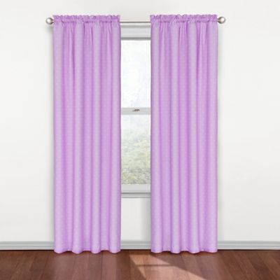 Insola Polly Rod Pocket 84-Inch Blackout Window Curtain Panel in Blue