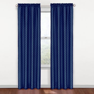 SolarShield® Polly Rod Pocket 84-Inch Blackout Window Curtain Panel in Blue