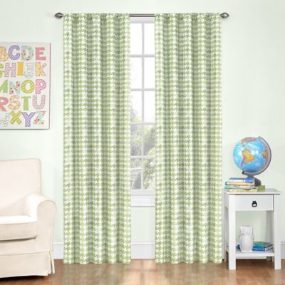 Insola Zander Rod Pocket 84-Inch Blackout Window Curtain Panel in Yellow