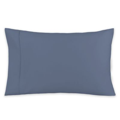 600-Thread-Count 21-Inch x 40-Inch Cotton Sateen King Pillowcase in Blue Jean