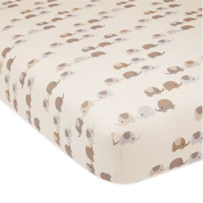 Lambs & Ivy® Oatmeal Cookie Elephant Fitted Crib Sheet