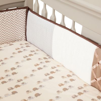 Lambs & Ivy® Oatmeal Cookie 4-Piece Crib Bumper