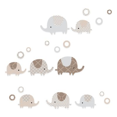 Lambs & Ivy® Oatmeal Cookie Elephant Wall Decals